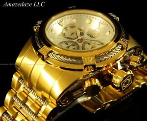 New-Invicta-Men-52mm-18K-Gold-Plated-Stainless-Steel-Bolt-Zeus-Chronograph-Watch