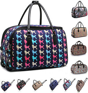 29d6fe55e0f Image is loading Ladies-Women-039-s-Travel-Holdall-Trolley-Luggage-