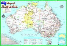 laminated AUSTRALIA MAP poster | australian geographic educational resource new