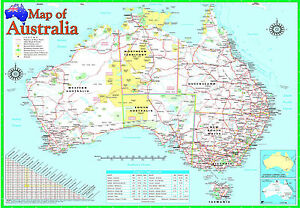 image is loading a2 laminated australia map poster australian geographic educational