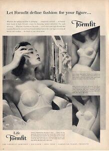 1957 Formfit PRINT AD Womens Underwear Bra Romance Confidential styles