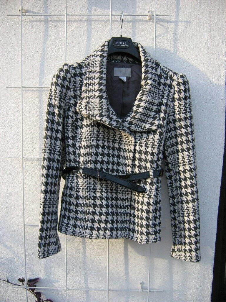 Sehr schöne, elegante Jacke, schwarz weiß - nie getragen, H&M, Gr. 36