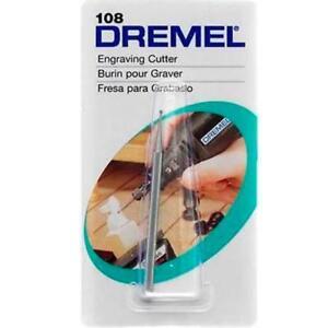 FRESA-PER-INCISIONE-0-8mm-DREMEL-108-Intaglio-Plastica-Legno-Metalli-teneri-NEW