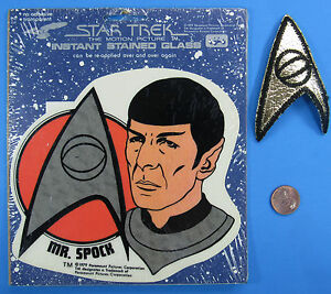 Instant-STAINED-GLASS-amp-PATCH-Star-Trek-The-Motion-Picture-vtg-039-79-Mr-SPOCK