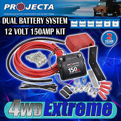 PROJECTA DBC150K DUAL BATTERY SYSTEM KIT 12VOLT 150 AMP ISOLATOR CARAVAN