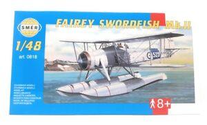 SMER-modellbau-plastico-kit-modelo-1-48-avion-Fairey-Swordfish-mk2