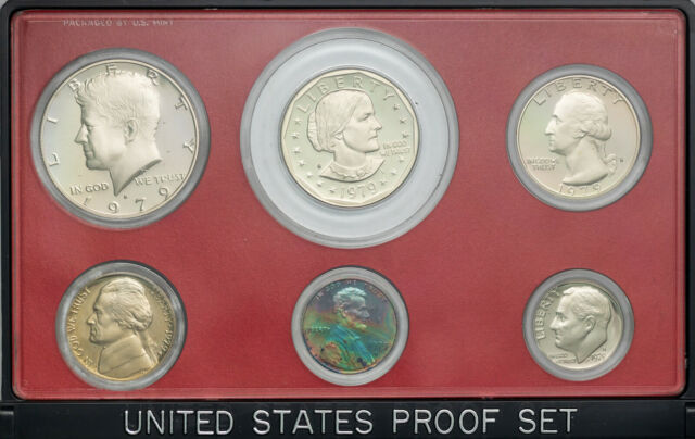 1979-S UNITED STATES MINT PROOF SET BU UNC DREAMY COLOR TONED