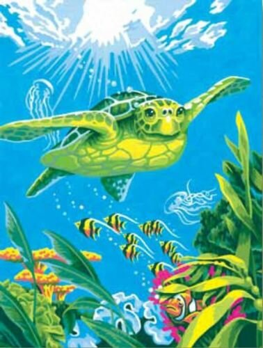 "Swimming Turtle DPW91471 Paintsworks Learn to Paint 9/"" x 12/"""