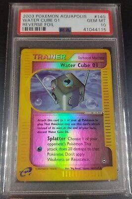 Pokemon Psa 10 Water Cube 01 Reverse Holo Aquapolis Gem Mint 140147 Pop 3 Ebay
