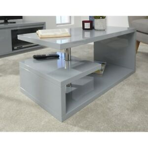Details About Coffee Table Furniture Polar High Gloss Led Coffee Table Grey