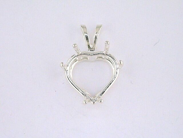 14ky Pear 3-Prong Cast Light Weight 6 x 4mm Pendant Setting