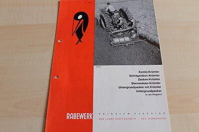 Krümler Prospekt 08/1968 Audacious 144647 Rabewerk Untergrundpacker Upa