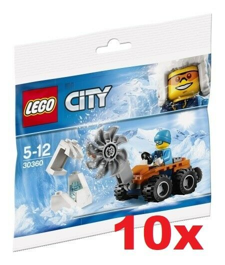 LEGO® 10x 30360 CITY Arctic Ice Saw POLYBAG   - NEW / FACTORY SEALED