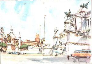 CARTOLINA-ROMA-IL-VITTORIANO-ILLUSTRATORE-ALDO-RAIMONDI-1950