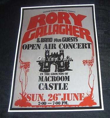 Rory Gallagher concert poster Macroom Mountain Dew Festival Cork ...