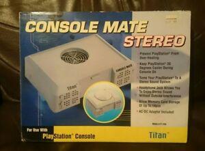 Sony-Playstation-1-PS1-Console-mate-stereo-Titan-Tt-1703-fan-audiophile-speaker