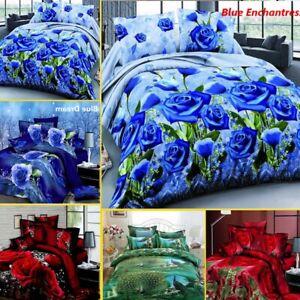 4Pcs-3D-Bedding-Set-Queen-Size-Quilt-Duvet-Cover-Bed-Sheet-Pillowcases-Bedroom