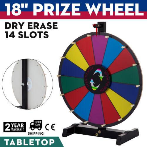460mm Glücksrad Spielzeug Farbe Rad Lotteriespiele φ61cm 14 Slots Wortspiele