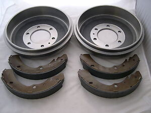 HOLDEN-RODEO-PAIR-OF-REAR-BRAKE-DRUMS-amp-SHOES-1996-2002