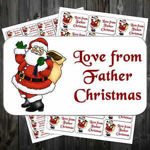 21 Christmas Gift Sticky Labels/Stickers/Tags Love From Father ...
