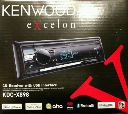 Kenwood Excelon KDC-X898 CD Receiver with USB Interface AUX//BT//SiriusXM