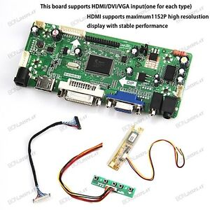 B5 VGA LCD LED LVDS Controller Board Driver kit for LP141WX1 TL DVI HDMI