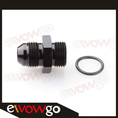 Male 10AN AN10 Flare To 10 AN AN-10 Straight Cut O-Ring Fitting Black