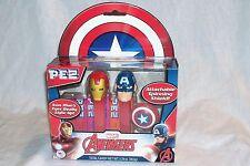 PEZ Avengers Gift Set Iron Man & Captain America Shield MARVEL CIVIL WAR MIB NEW