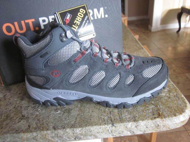 cf3e63102b8 Merrell Men's Ridgepass Mid Gore-tex Hiking BOOTS J286053C Size 11