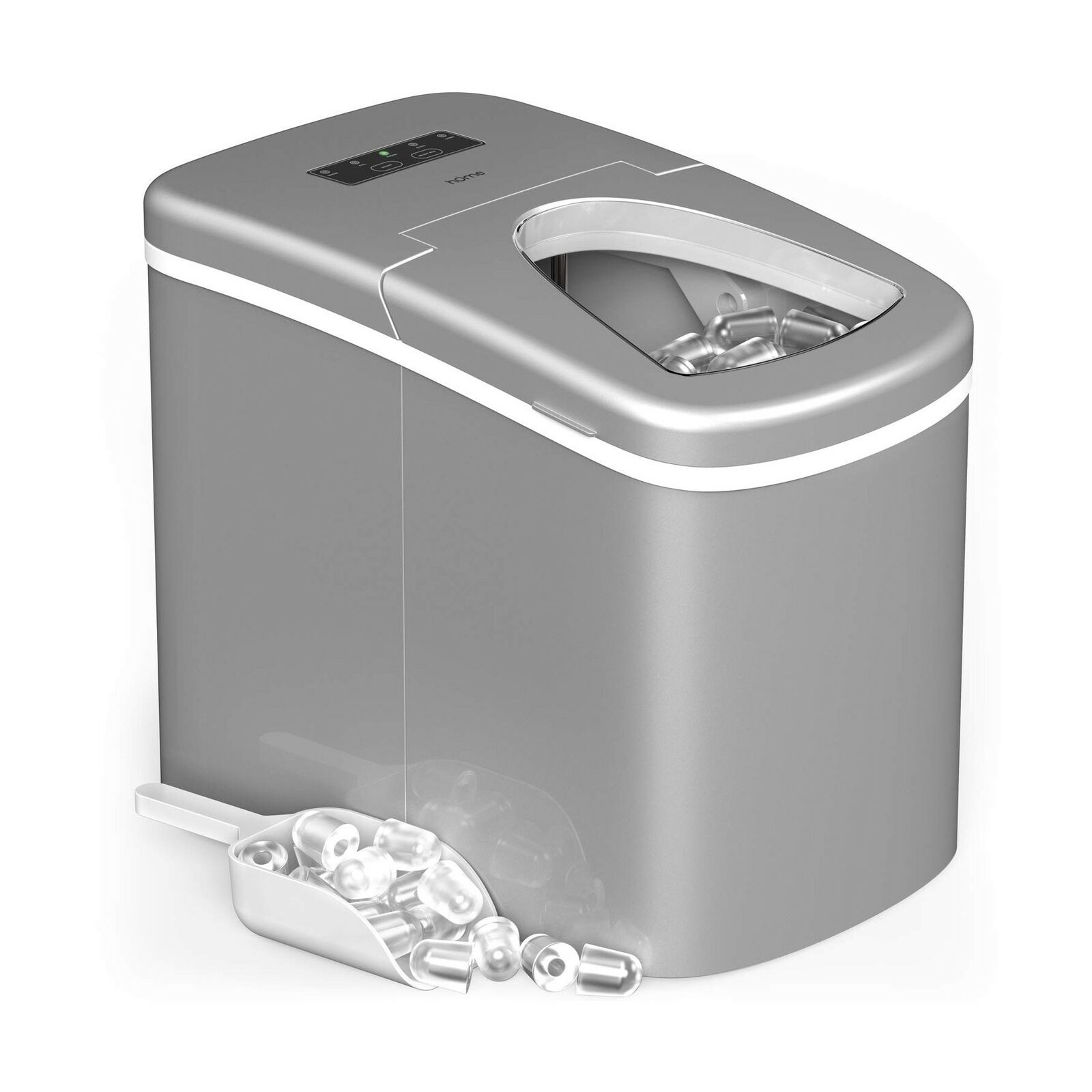 Home Portable Countertop Ice Maker Silver Hme010019n For Sale Online Ebay