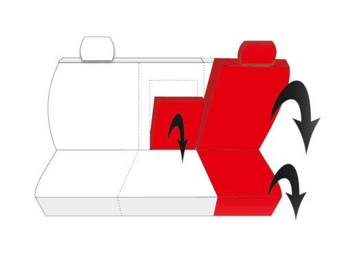Sitzbezüge Sitzbezug Schonbezüge für DACIA SANDERO I II Komplettset