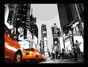 QUADRO-MODERNO-NEW-YORK-TAXI-GIALLI-gia-montato-su-telaio-prodotto-italiano