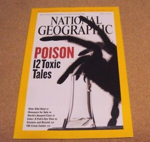 National-Geographic-May-2005-Poison-Toxic-West-Dinosaurs-Cave-FBI-Crime-Center