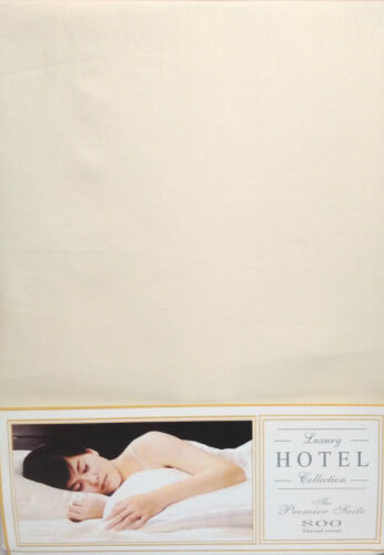 "SINGLE BED FITTED SHEET OFF CREAM IVORY 14/"" DEEP 800 THREAD COUNT 100/% COTTON"