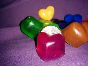 50 Heart Soap Wedding Party/Bridal Shower Favors--Your pick color and scent.