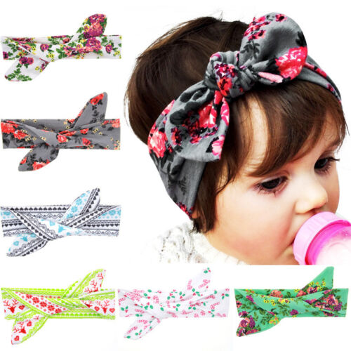 New Baby DIY Rabbit Ears Hair Band Headband Christmas XMAS Infant Hair Accs