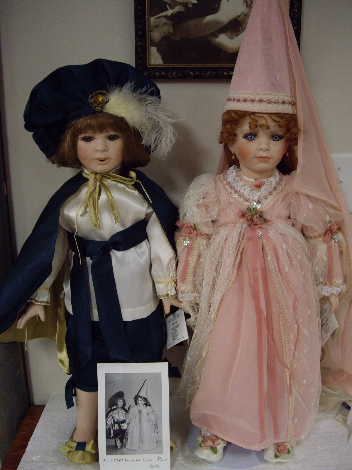 Lot-2 Designer Guild Collection, Romeo  And  Juliette Dolls By Linda Steele Doll