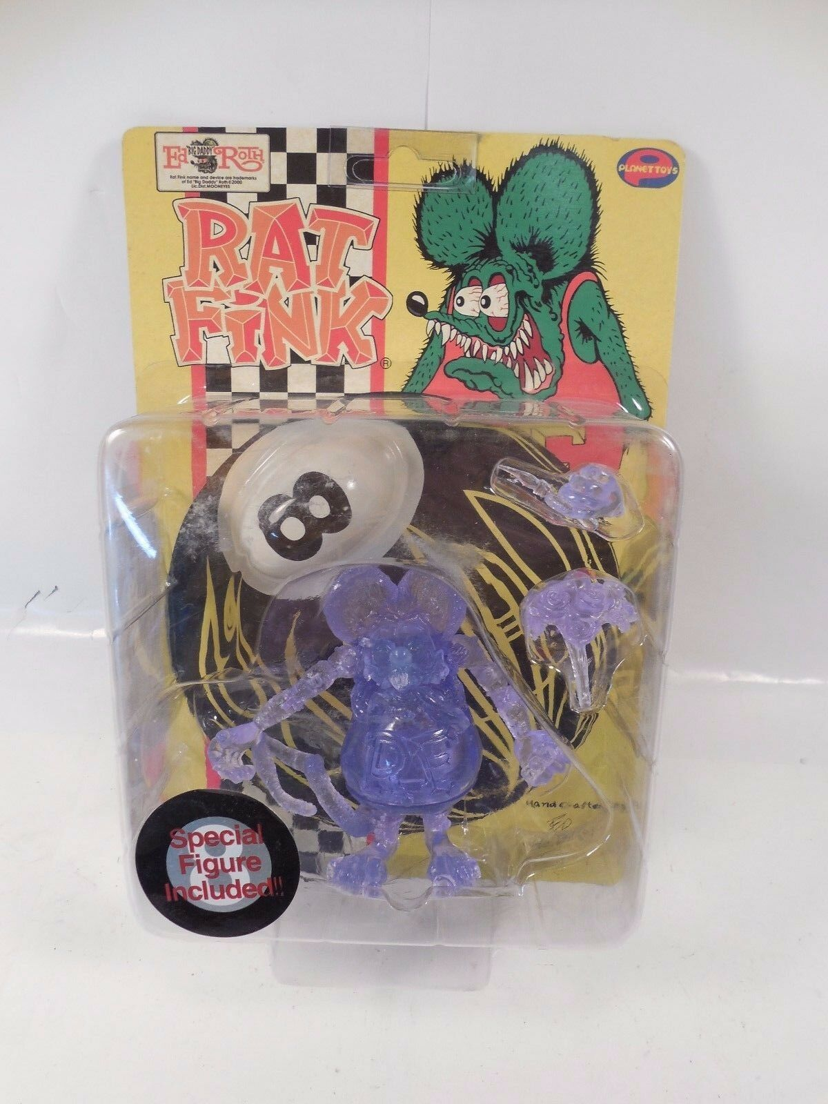 ED redH JAPAN IMPORT RAT FINK PURPLE VARIANT ACTION FIGURE SEALED MOC