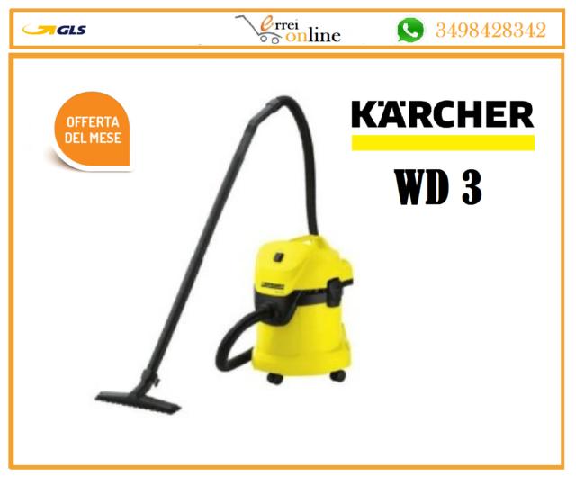 Aspirapolvere aspiraliquidi Karcher WD 3 - aspiratore con bidone 17 lt, 1000 W