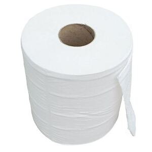 Large White Cleaning Paper Tissue Roll Industrial Size Jumbo Cleaner