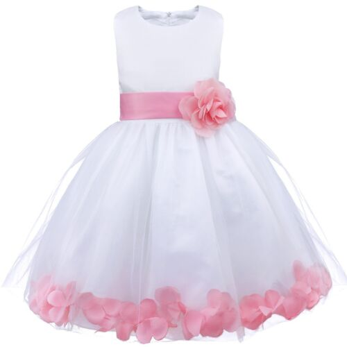 Flower Girl Kids Tutu Dress Birthday Princess Party Wedding Bridesmaid Ball Gown