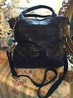 Fabulous! Fossil Long Live Vintage Black Leather Crossbody Tote Bag Ex.! ❤