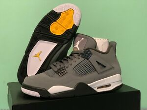 sports shoes d2f89 60fc4 Details about 2019 Nike Air Jordan Retro 4 IV OG Cool Grey Varsity Maize Sz  4Y-13 308497-007