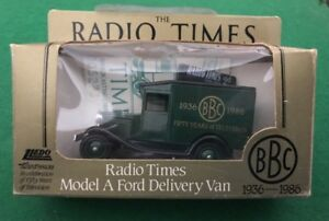 Lledo-Days-Gone-Diecast-Truck-BBC-British-Radio-Time-Model-A-Ford-Delivery-Van