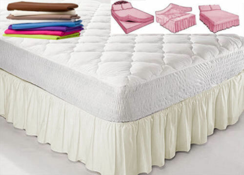"""NEW UK Double Size PLATFORM VALANCE SHEET With 12 Different frill sizes 6/""""-28/"""""""