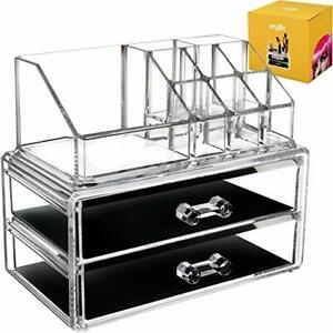 Acrylic-Vanity-Makeup-Storage-Organizer-Clear-2-Bottom-Case-Drawers
