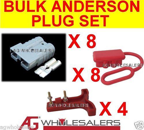 ANDERSON STYLE BULK 50 AMP PLUG T HANDLE DUST CAP SET R 50a