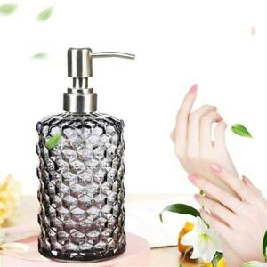 16 Oz Clear Glass Soap Dispenser Refillable Wash Hand