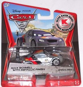 DISNEY PIXAR CARS 2 KMART DAY 9 MAX SCHNELL WITH METALLIC FINISH