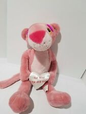 Pink Panther Too Sexy For His Fur Heart Love 20 inch Plush Toy Stuffed Animal